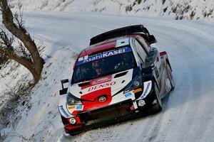 WRCモンテカルロ3日目:トヨタがトップ3独占。オジェがエバンスを13秒リード