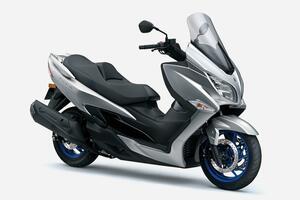 スズキ「バーグマン400 ABS」がマイナーチェンジ! 400ccスクーターの定番がさらに完成度をアップ