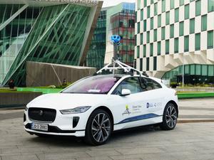 Googleストリートビュー車両に採用されたジャガーの電動SUV「I-PACE」