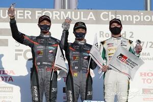 【スーパーフォーミュラ】第2戦 岡山|石浦宏明、SF19導入後初の表彰台「2台揃ってハイペースで走れたことが良かった」