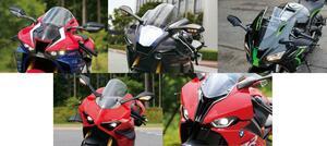 1000ccスーパースポーツバイクのスタイリングを徹底比較! ホンダ・ヤマハ・カワサキ・ドゥカティ・BMW