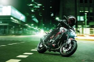 カワサキ「Z900」2022年モデル登場 パールホワイト×レッド×グレーのカラーでイメージを一新