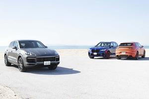 【比較試乗】「ポルシェ・カイエン vs カイエン・クーペ vs BMW X5M」高性能SUVのレシピは走りのブランドならでは。ポルシェとMの流儀