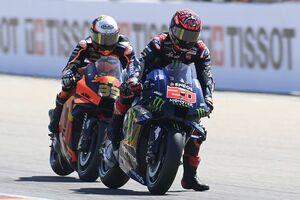 【MotoGP】ランク首位のクアルタラロ、アラゴンでまたも苦戦の8位。原因はリヤタイヤのトラブル?