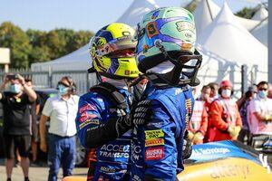 イタリアGPで2位のランド・ノリス「マクラーレンは運で1-2を手にしたわけじゃない」と好結果獲得を喜ぶ