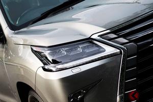 レクサス次期型「LX」年内発表か ランクル&NXに続くL字ライト採用の超高級SUVを示唆?