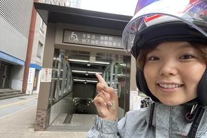 仙台市内のハイテクバイク駐車場をバイクタレントが体験!!