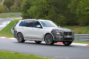 【フロントデザイン刷新か】BMW X7 改良新型、ニュルで走行テスト開始 2022年発売見込み
