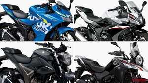 '21年新車バイクラインナップ〈日本車|車検レス軽二輪126~250ccクラス|スズキ〉