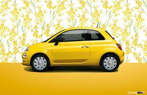 イタリアの春を象徴するボディカラーを採用した限定モデル「フィアット 500/500C ミモザ2」発売
