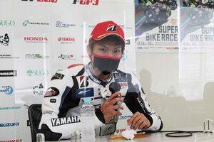 野左根「中須賀選手とやり合って、最後は自分が競り勝ちたい」/全日本ロード第3戦オートポリス ポール会見