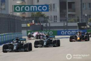 F1ロシアGP決勝速報|ボッタス独走で今季2勝目。レッドブルのフェルスタッペン2位
