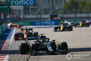 F1ロシア決勝:ボッタス開幕戦以来の優勝! フェルスタッペン2位、ホンダ全車入賞。ハミルトンはペナルティで後退