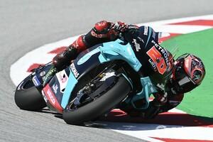 MotoGPカタルニア決勝:クアルタラロ、復活の3勝目!&スズキ2台が表彰台。ロッシはまさかの転倒に終わる。