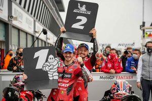 ランキング2番手のバニャイア、「チャンピオンシップでできるのは明日勝つことだけ」/MotoGP第16戦予選トップ3会見