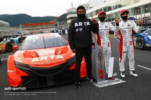 チームが『強くなるために』改善を要求した野尻智紀。優勝は「本当にうれしい」【第6戦GT500決勝会見】