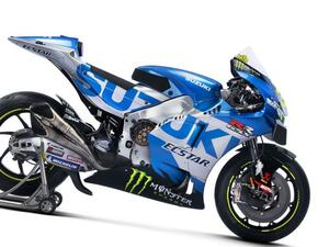 最高出力240馬力以上! スズキがモンスターエナジーとタッグを組んだ新型『GSX-RR』を初公開。全方位じっくりお見せします!【100%スズキ贔屓のバイクレース(14)/MotoGP 2021】