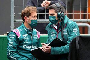 ベッテル「ギャンブルに失敗。タイヤがグリップせず機能させられなかった」:アストンマーティン F1第16戦決勝