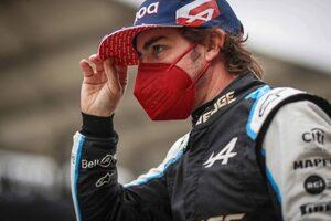 アロンソ「ミックに当ててしまい申し訳ない。オーバーテイクを狙っていた」:アルピーヌ F1第16戦決勝