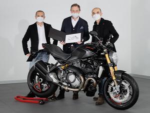【ドゥカティ】モンスターシリーズの累計生産台数が35万台を達成