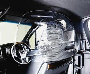 トヨタ紡織、タクシーでの飛沫防止へ専用パーティション発売 送風ファンでエアシールド形成