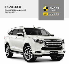 いすゞ、SUV「MU-X」が豪州・ニュージーランドの安全性能評価「ANCAP」でファイブスター獲得