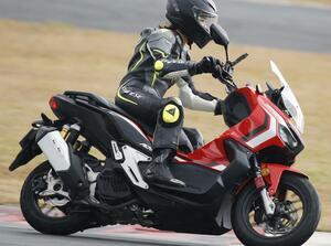 ホンダ「ADV150」の最高速を計測! 平嶋夏海さんがサーキットでシティアドベンチャーの限界に迫る
