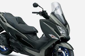 【新車】400ccのスズキ『バーグマン400』がツインプラグ化&電子制御で進化。250ccや125ccスクーターとは完全に別路線のツーリングバイクです! 価格と発売日は?【SUZUKI BURGMAN 400(2021)】