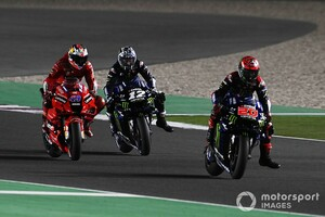 """【MotoGP】ミラー、予選で大クラッシュの危機。""""神セーブ""""目撃のクアルタラロ「ヒーローがTVに映ってないなんて!」"""