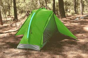 寝るまで1分のらくらくテント登場、もう忘れ物の心配も無いんです