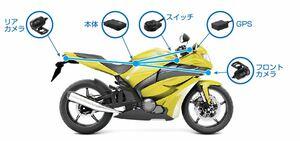レッドバロン、JVCケンウッド、あいおいニッセイ同和損保が保険連動型のバイク用ドライブレコーダーを共同開発