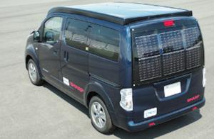 NEDOとシャープが高効率太陽電池セルを活用し電気自動車用の太陽電池パネルを製作