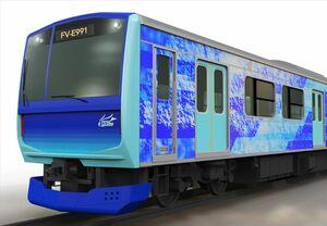 次世代の鉄道車両による脱炭素社会の実現へ。水素をエネルギー源としたハイブリッド鉄道車両(燃料電池)「HYBARI」試験車両の開発