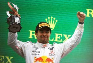 ペレス3位「特別な表彰台。ルイスに勝つのは簡単ではなかった」レッドブル・ホンダ/F1第16戦