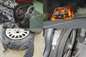 「車両火災」「ホイール脱落」「エンジン焼き付き」などが毎日のように発生! じつは他人事じゃないクルマの「重大トラブル」の数々