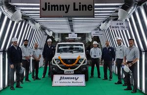 スズキ インド・グルガオン工場で「ジムニー シエラ」の生産、輸出を開始
