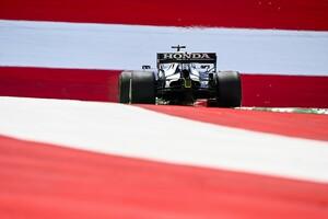 F1シュタイアーマルクFP1速報:レッドブル・ホンダのフェルスタッペン首位。アルファタウリも好調、ガスリー2番手、角田5番手