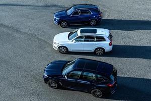 【比較試乗】「メルセデス・ベンツ GLE vs ボルボ XC90 vs BMW X5」パワーユニットの違いと満足度の相関関係とは?