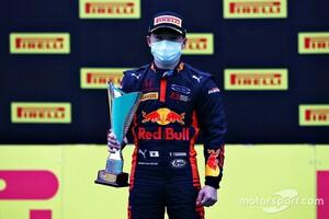 無線トラブルに泣き初優勝逃すも、2位表彰台。角田裕毅「最後は自分の速さを信じてプッシュした」|FIA F2第2戦シュピールベルク
