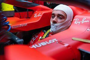 フェラーリのルクレールがQ2落ち「上位とのタイム差に愕然」クビアトへの妨害で3グリッド降格も【F1第2戦予選】