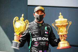 """F1 Topic:3輪走行での優勝は選手権史上初。ルイス・ハミルトンが""""伝説の走り""""に並ぶ"""