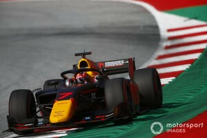 FIA F2シュピールベルク2:角田裕毅が開幕戦に続きフリー走行でトップタイムを記録