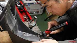 プラスチック樹脂部品の修理に重宝するコードレス式リペアツール【ストレート】