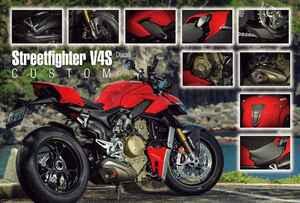 【カスタム】DUCATI「Streetfighter V4S」オリジナリティを高める専用アクセサリーパーツで愛車をさらにグレードアップ!