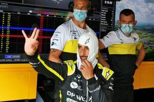 リカルド4位「あと2、3周あれば表彰台に上がれたかも」ルノー【F1第4戦決勝】