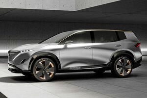 【アリアに続け】日産、大型SUVの100%電気自動車を検討か 新型フルEVの予想イラスト