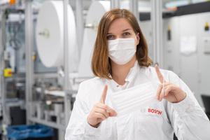 1日50万枚! ボッシュが新型コロナウイルス対策としてフェイスマスクを生産