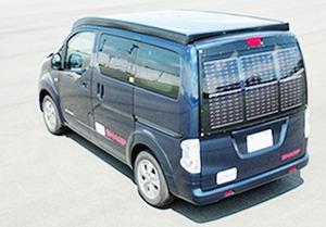 シャープとNEDO、太陽電池のみで走るEV 実験車両を開発 外部給電ゼロ