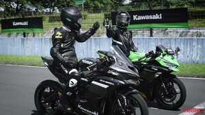 【映像】ヨシムラサウンド全開! カワサキ「ニンジャZX-25R」レース仕様がセントゥールサーキットを快走