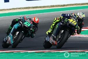"""【MotoGP】モルビデリ、初表彰台は「""""兄貴""""バレンティーノ・ロッシのおかげ」と感謝。ロッシも弟子の活躍に喜び"""